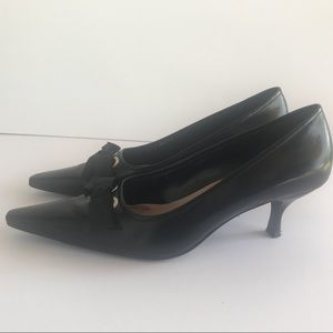 Shoes - Enzo Angiolini Black Pointed Toe Kitten Heels